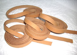 4 Nubuklederriemen 1300 mm lang 2 cm breit
