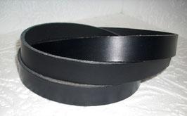 1 Volllederriemen schwarz 1,20 m lang 3 cm breit 3 mm dick