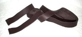 2 Lederbänder- / Riemen Nappa braun