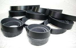 4 Kalbslederriemen schwarz 1 - 3 cm breite