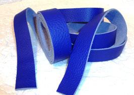 2 Lederbänder Glattleder indigo blau