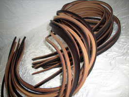 10 Riemchen Nubuk / Glattleder dunkel braun