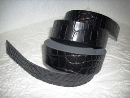 Zum Verkauf kommt 1 Lederriemen  aus schwarzen Rindsleder/ Gürtelleder