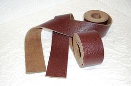 2 Lederbänder Glattleder braun