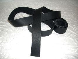1 Lederband- / Riemen Nappa schwarz