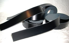 3 Rindslederriemen schwarz 1,70 m x 1,5 cm x 1,9 mm