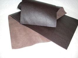 2 Lederbänder Glattleder in Büffeloptik