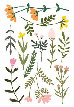 Wandsticker Blumen (11 Stück)