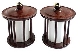 仏壇用灯篭 紫檀 1対