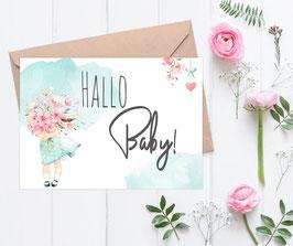 "Baby Karte ""Frühlingsgefühle"""