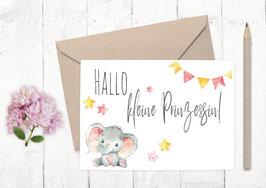 """Baby Karte """"Elefanten Mädchen"""""""