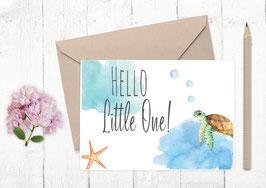 """Baby Karte """"kleine Schildkröte"""""""