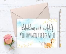 "Baby Karte ""Flieger Freunde"""