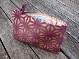 Tablet Bag i-Pad mini- Samet Sterne Violet auf Goldig