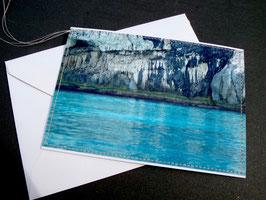 Genähte Karte - FELS UND MEER