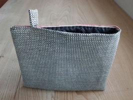 Tablet Bag für grosse Tablets -Schwarz-Weiss