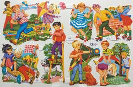 Poezieplaatjes spelende kinderen