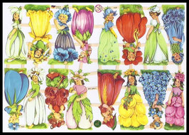 Poezieplaatjes Bloemenmeisjes