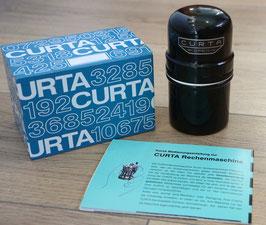 Set - Curta II Dose in Aluminium (Herstellung 1:1 nach Original) & Verpackung Curta & Kurz-Bedienungsanleitung (deutsch)