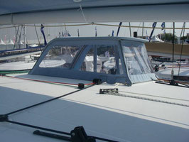 TOILES LATERALES SUR CABRIOLET LAGOON 400