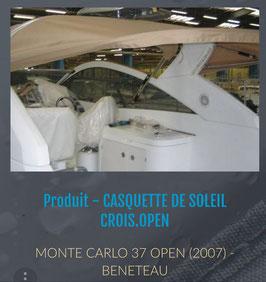 TOILE DE CASQUETTE DE SOLEIL MONTE CARLO 37