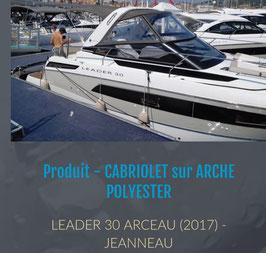 LEADER 30 TOILE CABRIOLET SUR ARCHE