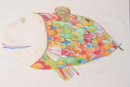 カラフルお魚のポストカード