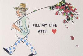 fill my life with loveポストカード