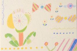 お花とリボンポストカード