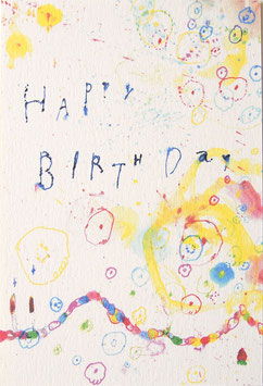 happybirthdayパーティーのポストカード