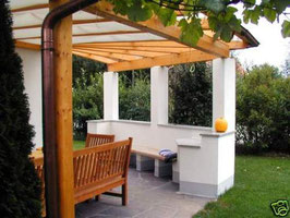 Terrassendach komplett mit 16mm Stegplatten + Alu-Profile  ( ohne Unterkonstruktion )