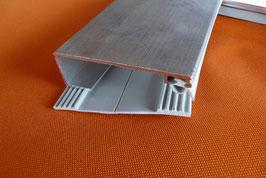 Alu - Universal - Rand-Verlegeprofil 80mm incl. Dichtung  Lippendichtung & Unterlegband Grau