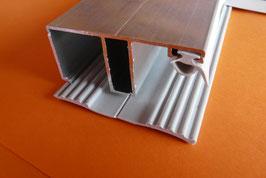 Alu - Kombi - Randprofil 60mm incl.  EPDM Lippendichtung & Rippenunterlegband Grau