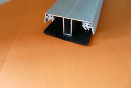 Alu - Kombi - Mittelprofil 60mm incl.  EPDM Lippendichtung Grau & Rippenunterlegband Schwarz