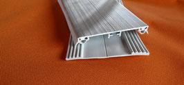 Alu - Universal - Mittel-Verlege Profil 80mm incl. Dichtung  Lippendichtung & Unterlegband Grau