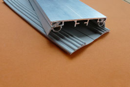 Alu - Verlege Mittelprofil für VSG-Glas 60mm incl. Dichtung  Lippen & Rippenunterlegband in Grau