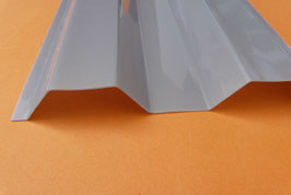 PC - Profilplatte Trapez 76/18  Solar-Control Silber / Grau