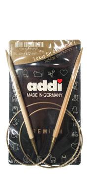 Bambus-Rundnadeln der Firma Addi in den Längen 40 bis 150 mm