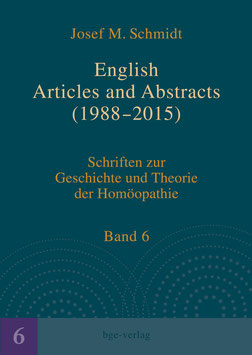 Josef M. Schmidt: English Articles and Abstracts (1988-2015)