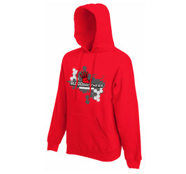 Bloodbrothers Graphics hooded sweater Red