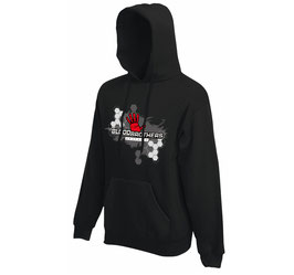 Bloodbrothers Graphics hooded sweater Black