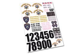 Assorti California Highway Patrol Decalset