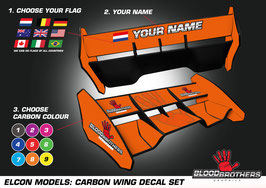 Elcon Carbon Spoiler decalset