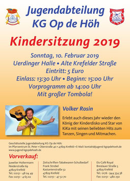 Ticket Kindersitzung 2019