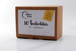 Bienenwachs-Teelichter