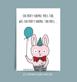 "POSTKARTE - ""PARTY ANIMAL"""