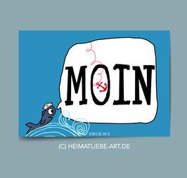 "POSTKARTE - ""MOIN"""