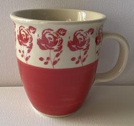 Tulp beker, roos half rood