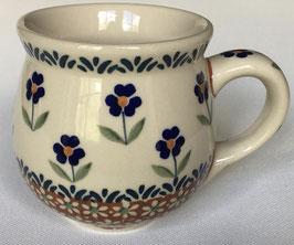 Boerenbeker bruin met blauwe bloem