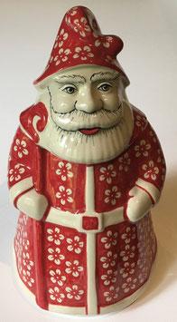 Grote koekpot kerstman rood